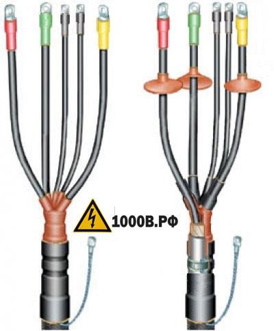Электромонтажные работы по прокладке кабеля и опрессовка наконечников на провода кабеля