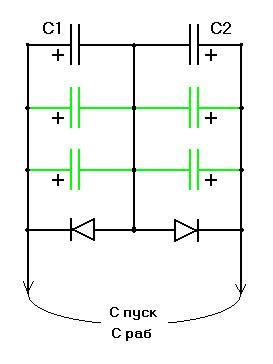 Как подключить трехфазный двигатель 380 в однофазную сеть 220 10
