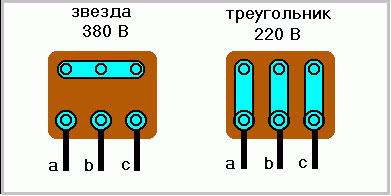 Как подключить трехфазный двигатель 380 в однофазную сеть 220 3