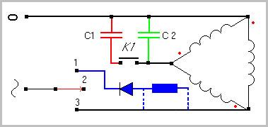 Как подключить трехфазный двигатель 380 в однофазную сеть 220 6