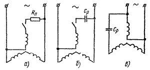 трехфазный асинхронный двигатель в однофазную сеть 220