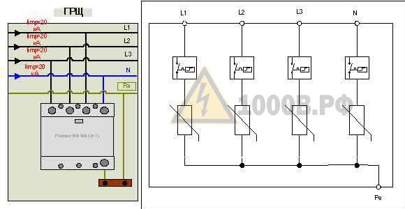 Пример выбора ограничителей перенапряжения (ОПН) для молниезащиты в TN – S, TN – C – S системах 8