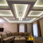 Монтаж электропроводки и устройство декоративного освещения в потолках из ГКЛ